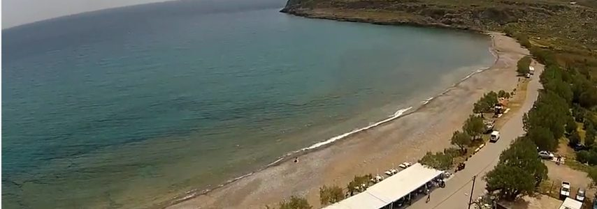 Watch Kato Zakros video by air : bay,beach,Minoan Palace,Archeological Site of Zakros,Zakros Gorge